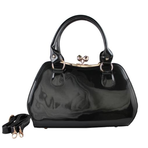 christine bag black front