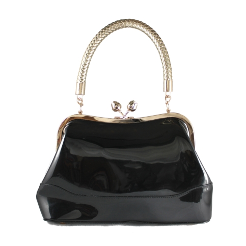 connie bag black front