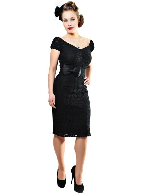 Dolores Dress Lace Black sleeves