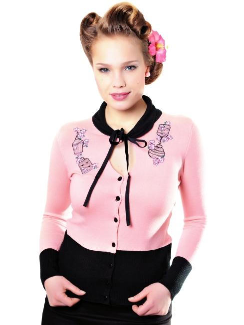 Mariella Cardigan Birdcage pink two