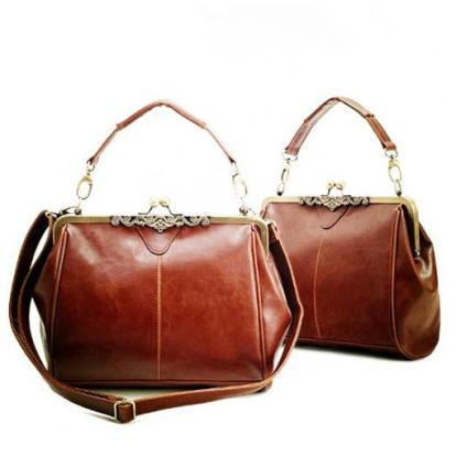 561-Neewer-NEEWER-Retro-Vintage-Lady-Faux-Leather-Shoulder-Handbag-Satchel-Tote-Bag-Purse-Brown-for-Women-4